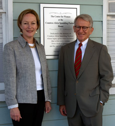 Dedication of new Center for Women building in 2007. Jennet with Mayor Joe Riley.